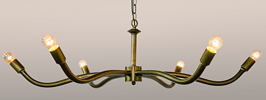 Sprinkle Chandelier, Antique Brass