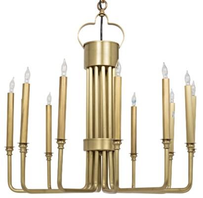Kooper Chandelier, Antique Brass