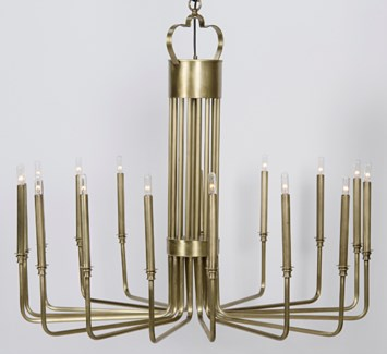 Kooper Chandelier, Antique Brass