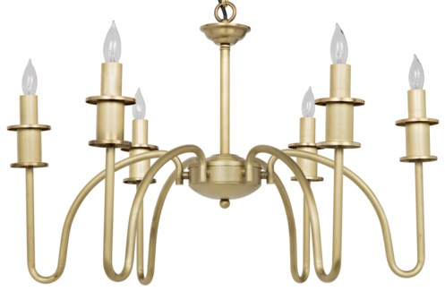 Exton Chandelier, Small, Antique Brass Finish