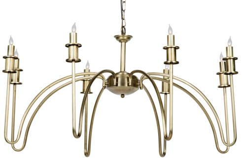 Exton Chandelier, Antique Brass