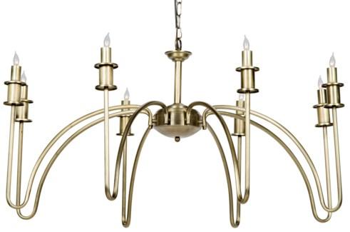 Exton Chandelier, Antique Brass