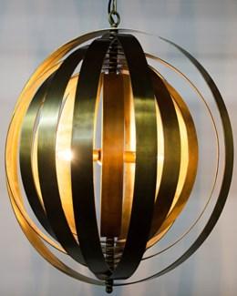 Tournant Pendant, Antique Brass
