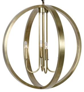 Abel Pendant, Antique Brass
