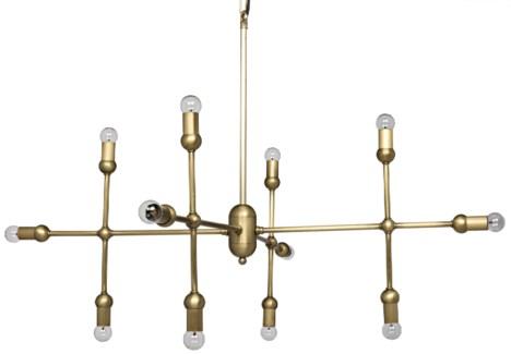 Crossover Pendant, Antique Brass