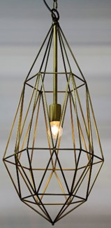 Point Pendant, Antique Brass Finish