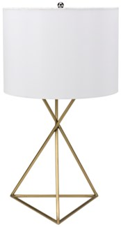 Triangle Table Lamp, Antique Brass