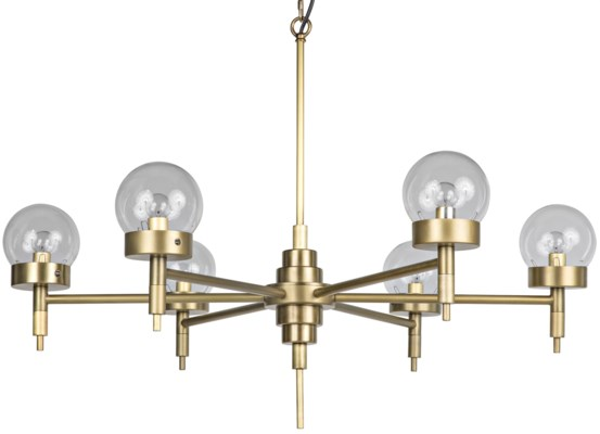 QS Leslie Chandelier, Antique Brass