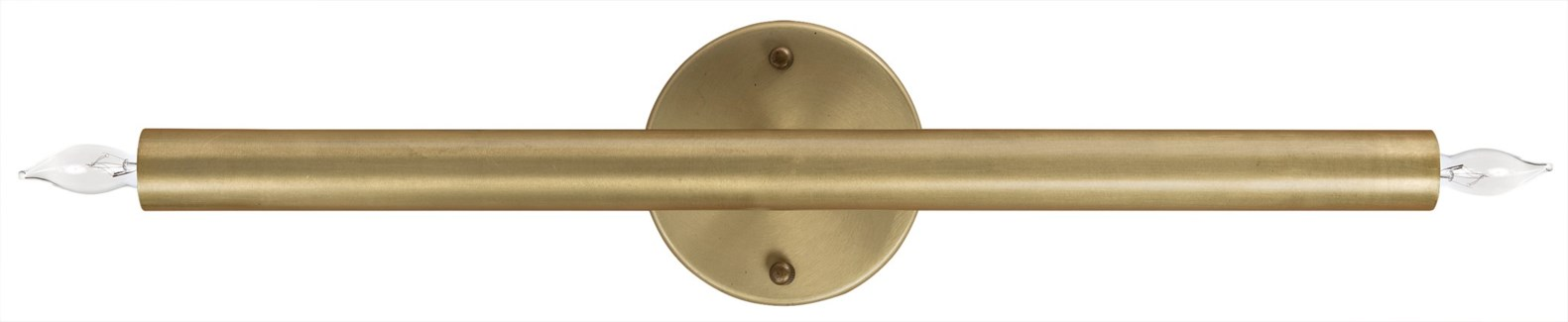 Straight Sconce, Antique Brass