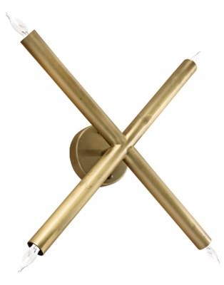 Cross Sconce, Antique Brass