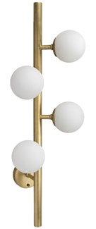 Mattias Sconce, Antique Brass, Metal and Glass