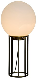 Match Table Lamp, Antique Brass, Metal and Glass