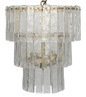 Bruna Chandelier, Small, Antique Brass Finish