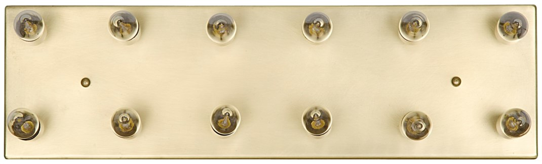 Half Frontal Lamp, Antique Brass