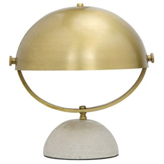 Moon Table Lamp, Antique Brass