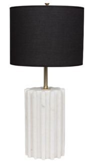 Gogol Table Lamp, White Stone