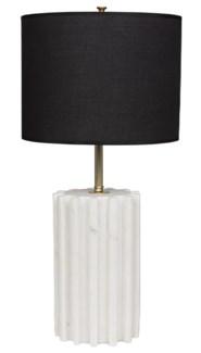 Gogol Table Lamp, White Stone