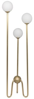 Seafield Floor Lamp, Antique Brass