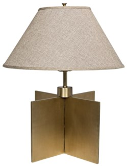 Architectural Lamp, Antique Brass