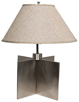 Architectural Lamp, Antique Silver
