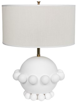 Scepter Lamp, White Finish