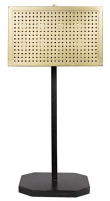 Lounge Lamp, Antique Brass Finish