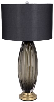 Shadow Lamp w/Shade, Antique Brass Finish