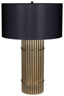 Chloe Lamp, Black Shade, Antique Brass