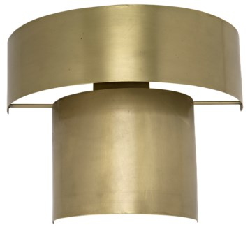 Mathis Sconce, Antique Brass Finish