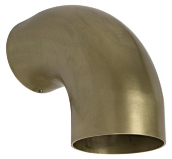 Elbow Sconce, Metal w/ Brass Finish