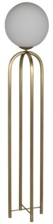 Moriarty Floor Lamp, Metal w/Brass Finish