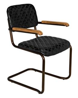 0045 Arm Chair, Vintage Black Leather