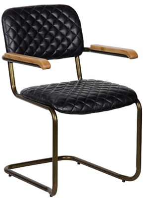 0045 Arm Chair, Vintage Black Leather