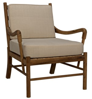 Kevin Chair, Rattan and Teak