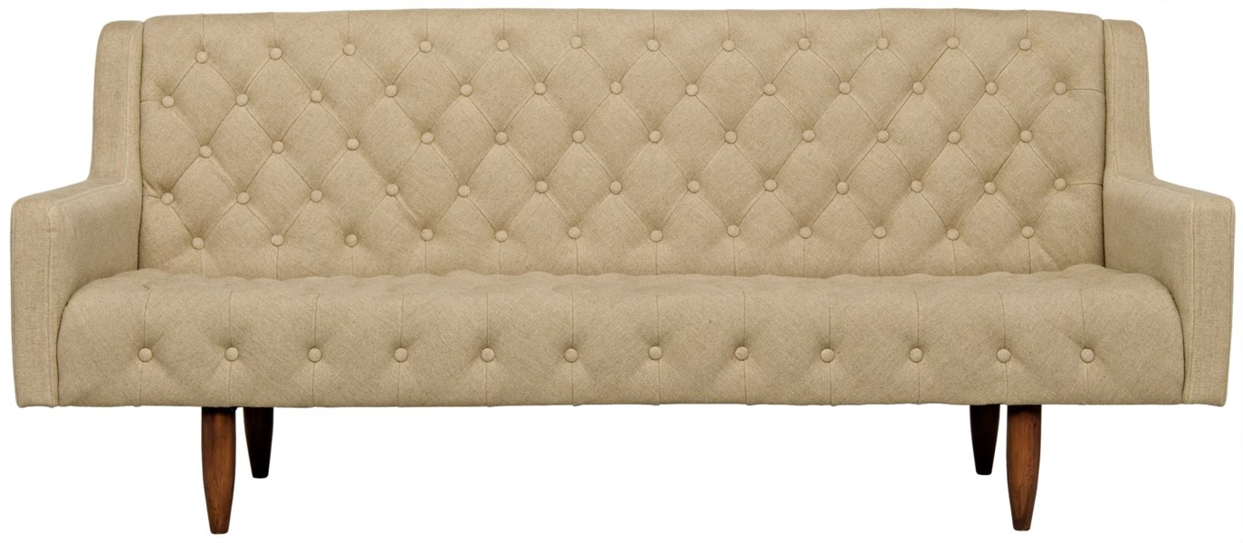 Reynolds Sofa, Tufted, Linen
