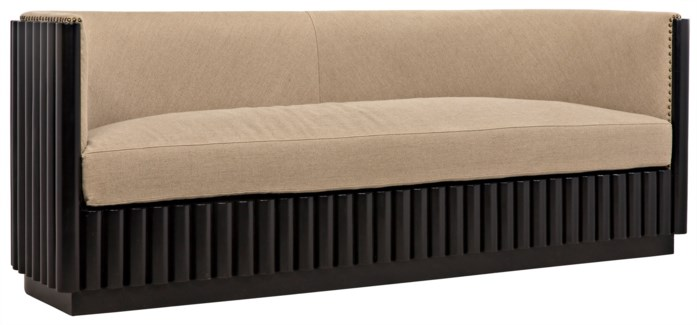 Duke 3-Seat Sofa, Hand Rubbed Black