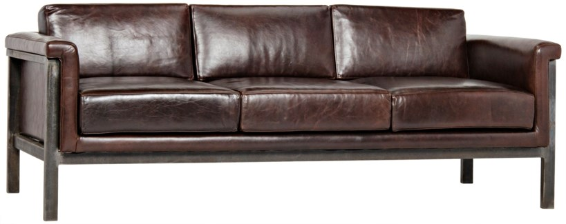 Mitsuru Sofa, Metal and Leather