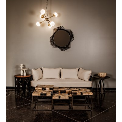 Windsor Sofa, Hand Rubbed Black