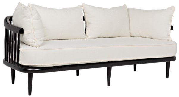 Windsor Sofa, Hand Rubbed Black