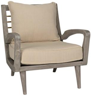 Pearson Chair w/Brass Bars, Distressed Grey