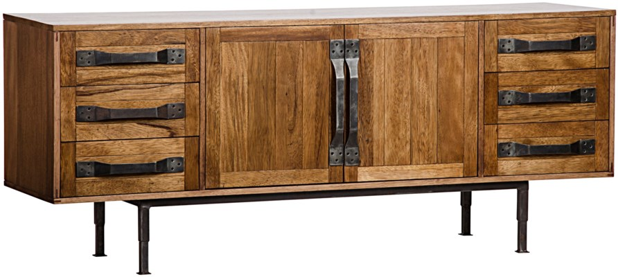 Yacht Sideboard, Walnut and Metal