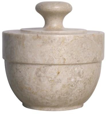 QS White Marble Sugar Urn