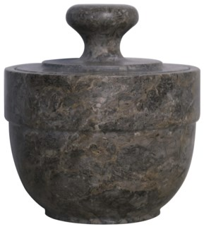 QS Black Marble Sugar Urn