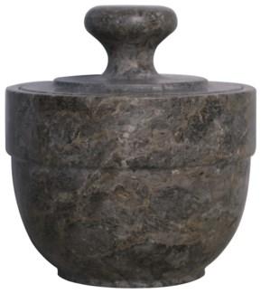 QS Black Marble Sugar Urn