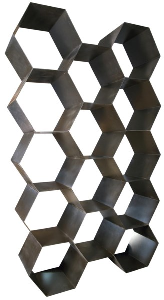 QS Bee Hive Bookcase, Metal