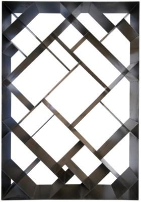QS Small Diagonal Bookcase, Metal