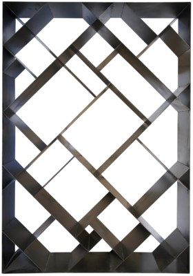 Small Diagonal Bookcase, Metal