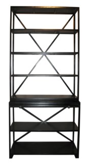 Sutton Bookcase, Hand Rubbed Black
