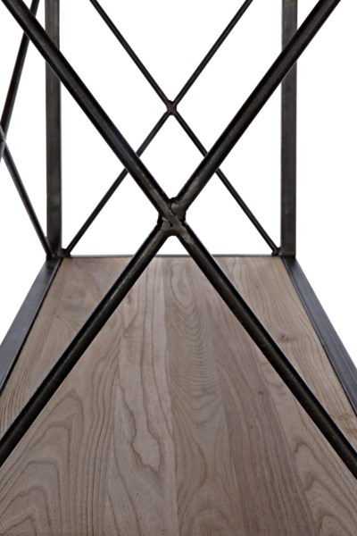 QS 801 Bookcase, Elm and Metal