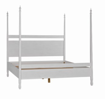 QS Venice Bed, Eastern King, White Wash